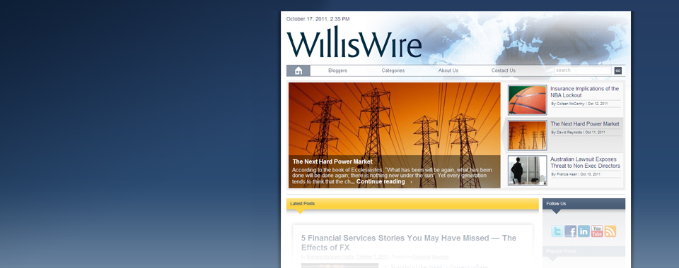 Willis Wire blog